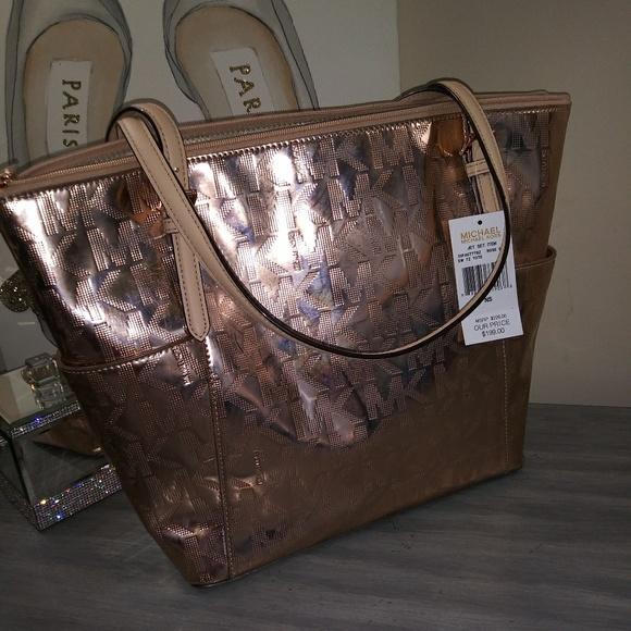 096057f11b3c MICHAEL Michael Kors Bags   Sale 99rose Gold Michael Kors Tote Bag ...